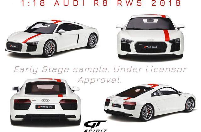 1/18 : GT Spirit prépare l'Audi R8 RWS
