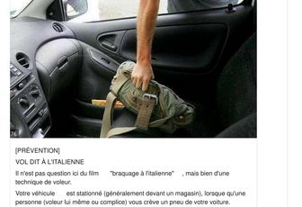 Prudence, communiqué par la Gendarmerie