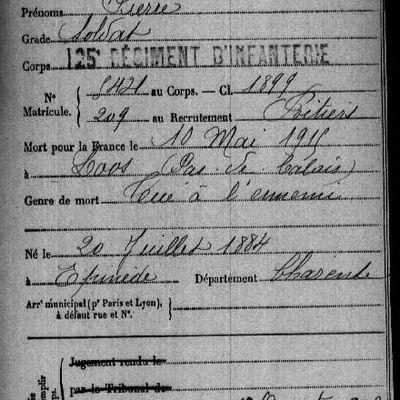 CAILLETON Pierre + 1915