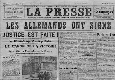 1919: Traité de Versailles