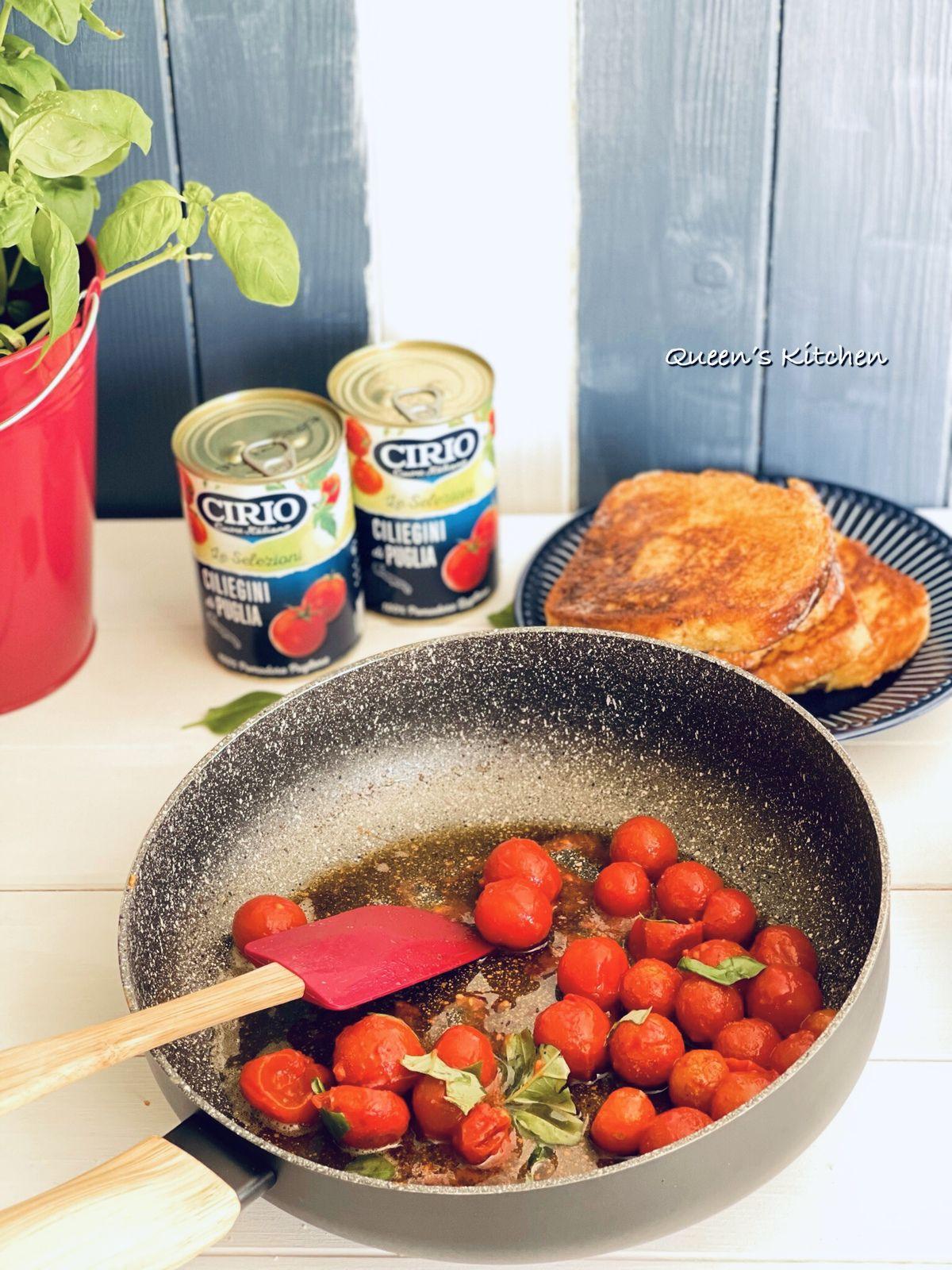 French Toast con Ciliegini e Feta
