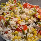 Salade riz poulet haricots au cookeo |