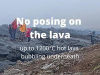 Reminder of the rules to be observed on lava in Iceland - Doc. Lögreglan in Suðurnesjum - one click to enlarge