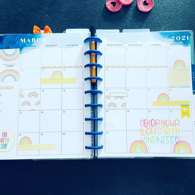 Plan with Me: Classic happy planner_ Vue mensuel Mars