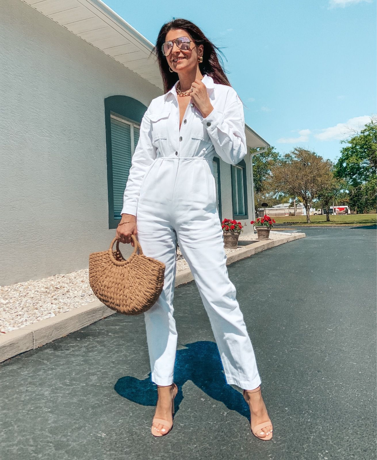 White jumpsuit for Spring
