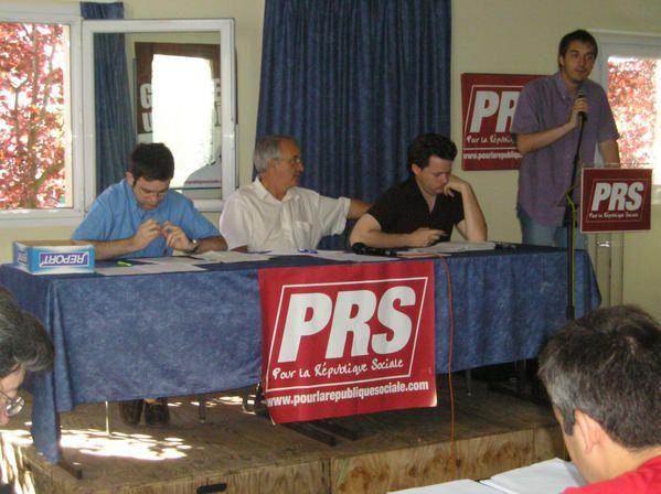 Convention Nationale PRS et conseil national en juillet)