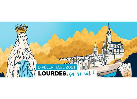"""Pèlerinage en ligne à Lourdes  du 12 au 16 août 2021  """"Tous appelés à la fraternité"""""""