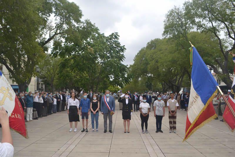 Cérémonie d'hommage au monument des martyrs de la Résistance
