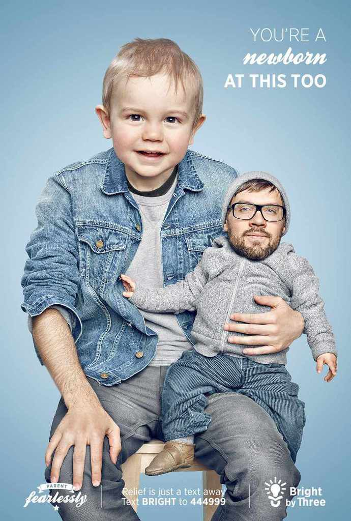 Les pires pub : Bright By Three, photomontage has been