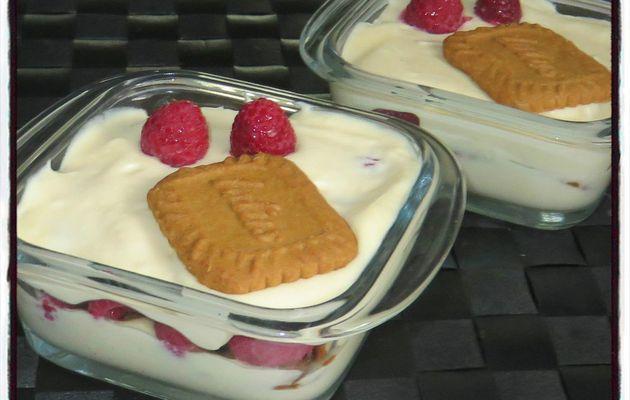 Tiramisu framboise chocolat blanc