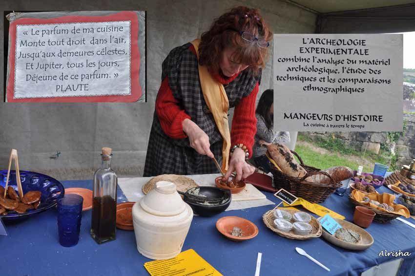 Dans l'après-midi du 2 mai 2009 sur l'esplanade du Vieux Château à Château-Thierry, festival gastronomique.