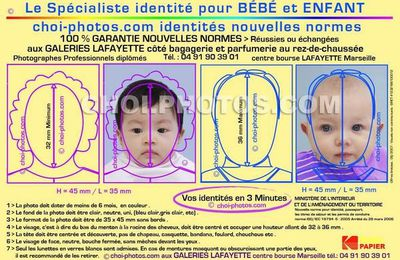 Photo didentité biométrique pour Passeport pour bébé, nourisson