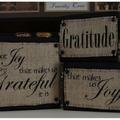 "Creative ""Try""als: Printing on Burlap Trial"