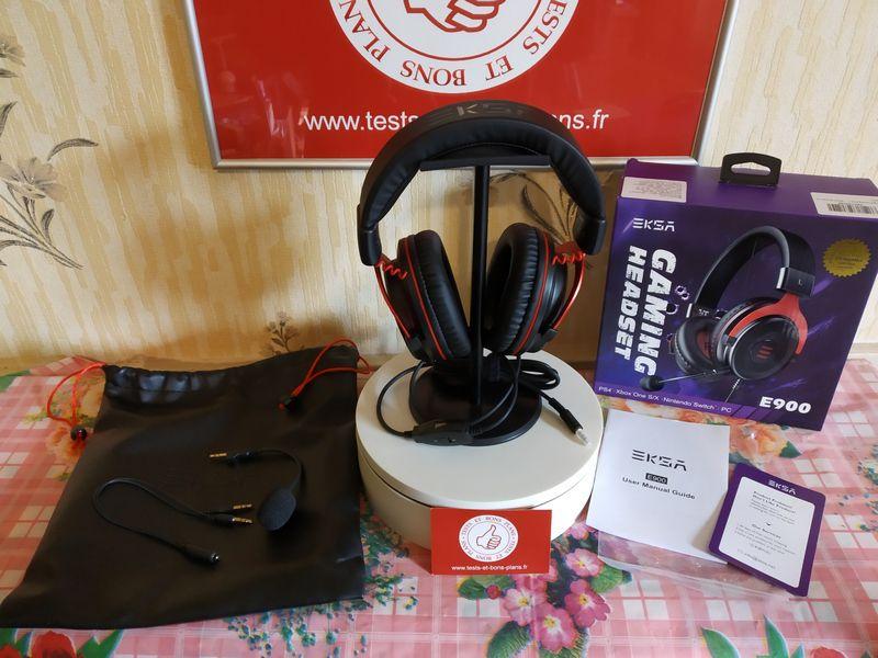 unboxing du casque de gaming filaire EKSA E900 @ Tests et Bons Plans
