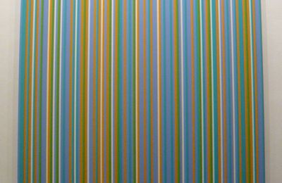 Lilac Painting 1, oeuvre de Bridget Riley