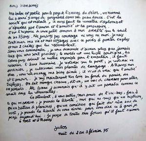 Lettre ouverte de Julos Beaucarne