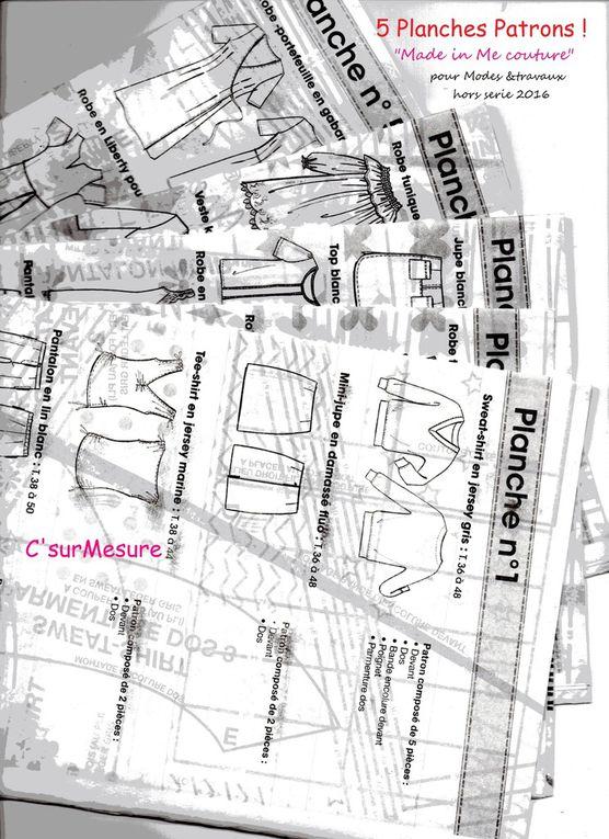 dans le Magazine : les Modèles, explications, plan de coupe, montage et 5 planches patrons !
