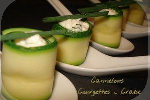 Cannelons de Courgettes au Crabe...en cuillères