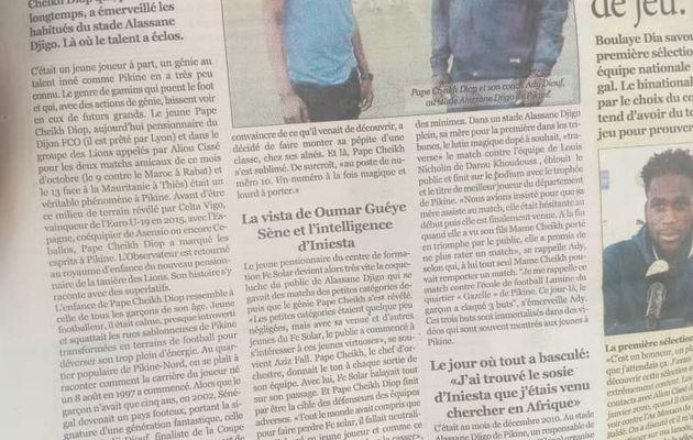 BREAKING PIKINE SPORTS NEWS //  PAPE CHEICK DIOP UN PRODUIT DE COACH ADY DIOUF//