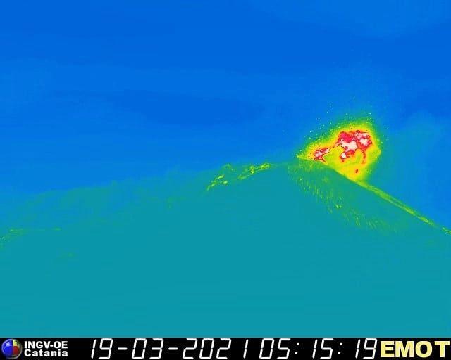 Etna SEC- 19.03.2021 / 5:15 am - EMOT / INGV OE webcam