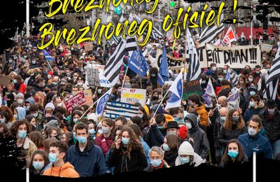 Manif pour la langue bretonne à Guingamp  (Bretagne Info / 14.05.21)