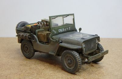 ​  Jeep Willys 101st Airborn Division  (Hobby Master - 1/48 - par Marc H.) ​