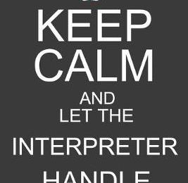 Keep Calm And Let The Interpreter Handle It  Funny ASL Interpreter Journal Notebook - 120 Pages, 6 x 9 (15.24 x 22.86 cm), Durable Soft Cover