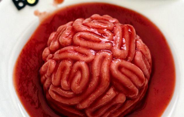 Cervelle ensanglantée: un dessert bluffant pour Halloween !
