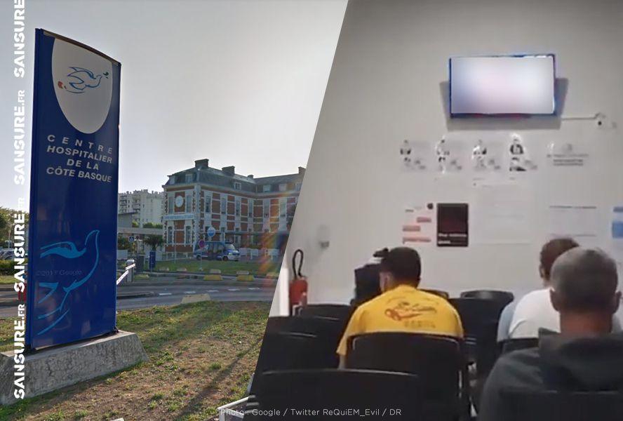 Un film porno diffusé par erreur dans une salle d'attente de l'hôpital de Bayonne ! #Bayonne