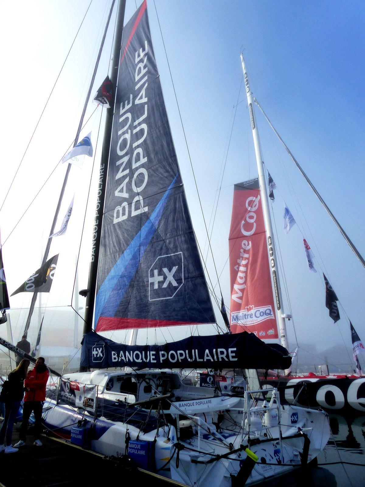 Visite du ponton du Vendée Globe