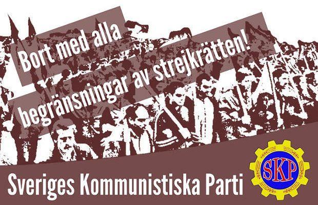 Déclaration du Parti communiste de Suède sur la proposition de limitation du droit de grève en Suède