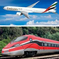 Accordo Emirates-Trenitalia: unico biglietto per treno e volo
