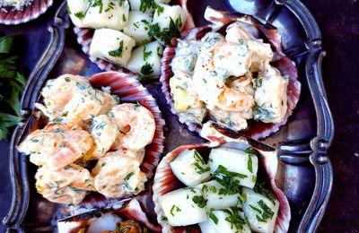 Salades de fruits de mer