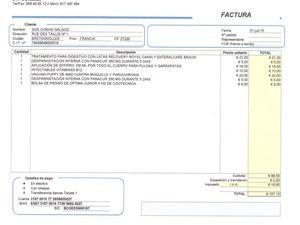 Une partie des Factures Moise qui s'eleve deja a 630€ s'ajoutera encore le transport,la castration...