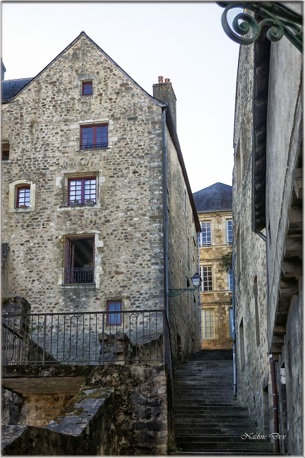 Escalier de la petite Poterne rue de Vaux - Cité Plantagenêt le Mans