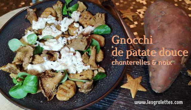 Gnocchi de patate douce aux chanterelles et noix