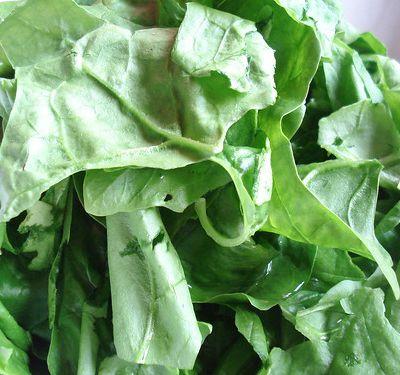 Sag ( Légumes à feuilles vertes cuits dans leur propre jus)