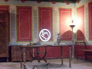Lugo - Maison romaine, reste du décor et reconstitution virtuelle.