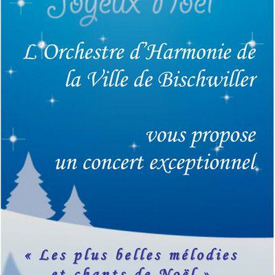 invitation au concert le 20 décembre à Bischwiller