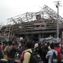 RDC: L'effondrement d'un immeuble de 5 étages en construction fait 7 morts à Kasa-Vubu