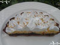 Tarte orange chocolat meringuée