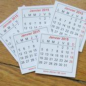 a-Mini calendrier 2015- lot de 5