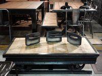 Table basse design - montée sur sa portion de rail !!!