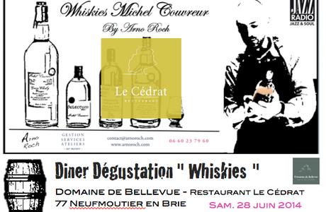Diner + Whiskies Michel Couvreur au Domaine de Bellevue