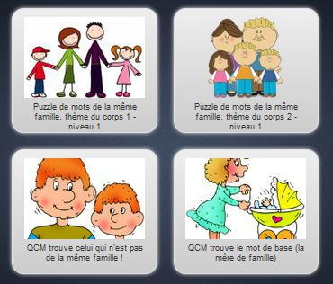 Exercices interactifs - vocabulaire