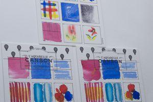 Tests des papiers aquarelle Canson Héritage