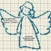 Grille gratuite point de croix : Ange silhouette - Le blog de Isabelle