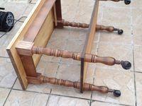 Table basse gigogne avec tiroir relookée