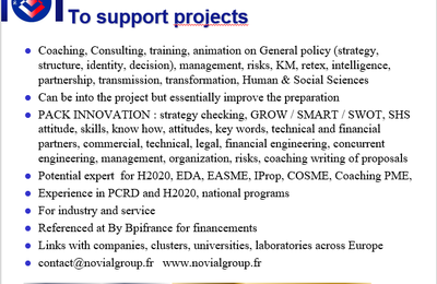 NOVIAL CONSULTING AU SEIN DES PROJETS EUROPEENS