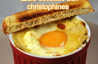 Œufs cocottes aux christophines ou chayottes